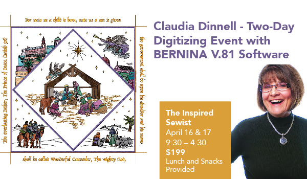 Claudia Dinnell – Two-Day Embroidery Event