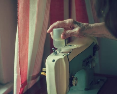 Maintaining sewing machine.