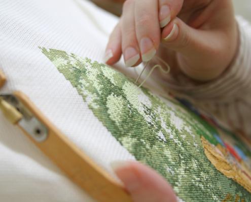 stitching using hoop